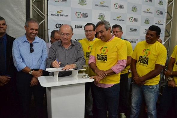 Prefeito José Ronaldo autoriza início da obra do Shopping Popularp
