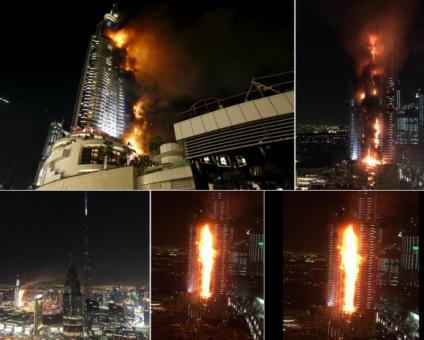 Incêndio no hotel em Dubai