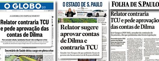 APRESSADA NO GOLPE, MÍDIA FICA DESCONCERTADA