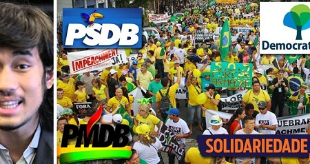 Movimento Brasil Livre FOI FINANCIADO POR PMDB, PSDB, DEM E Solidariedade