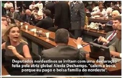 Atriz da Globo diz que 'paga o Bolsa Família do Nordeste'