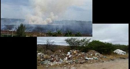 Internauta denuncia destruição da Lagoa Salgada em Feira de Santana