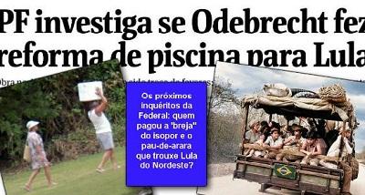 Será que a Odebrecht pagou o pau-de-arara para Lula vir de Garanhuns?