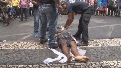 Duplo assassinato no centro comercial de Feira de Santana