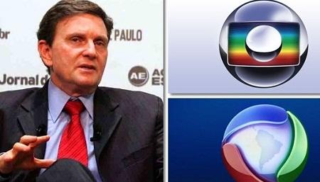 Globo e Record estão em guerra após vitória de Crivella e internet passa a incomodar