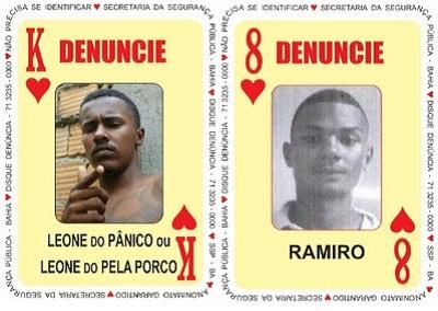 Baralho do Crime recebe duas novas cartas; uma delas é Leone, procurado por vários homicídios em Feira