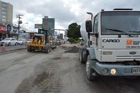 Pavimento rígido de estação do BRT será concluída esta semana