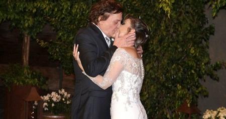 Fábio Jr. se casa pela sétima vez e é ironizado pela mulher