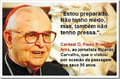 Velório de D. Paulo Evaristo Arns começa às 19h desta quarta-feira