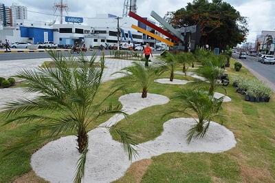 Ajardinamento revitaliza monumento a Maria Quitéria
