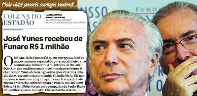 Funaro-Yunes: a conexão Cunha-Temer, em dinheiro