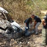 Dois corpos carbonizados são encontrados em carro incendiado