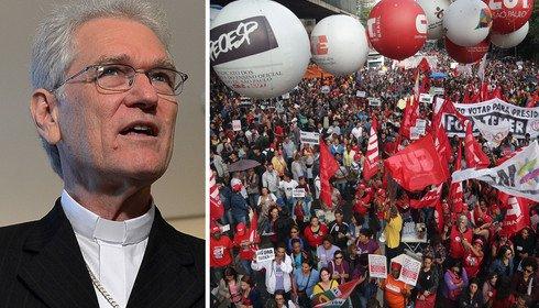 Cresce apoio da Igreja Católica à greve geral