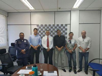 Secretário discute termo de cooperação técnica na sede Polícia Rodoviária Federal em Salvador