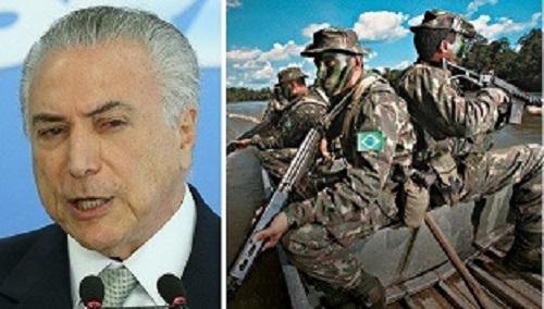 TEMER CHAMA EXÉRCITO AMERICANO PARA ATUAÇÃO INÉDITA NA AMAZÔNIA