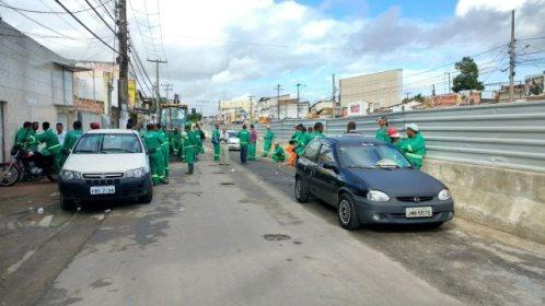 Operários foram assaltados no canteiro de obras do BRT, nesta quarta-feira