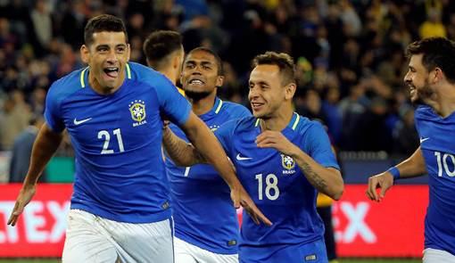 Brasil vence a Austrália por 4 x 0