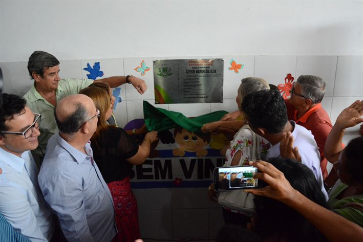 Reinauguração da Cheche Escola Arthur Martins da Silva, na Pedra Ferrada