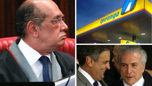 GILMAR, O POSTO IPIRANGA DE AÉCIO E DE TEMER