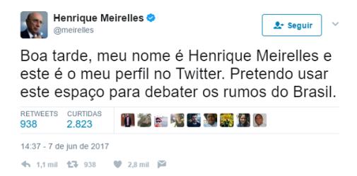 "Fernando Brito: ""Meu nome é Henrique Meirelles e eu quero governar o Brasil"""