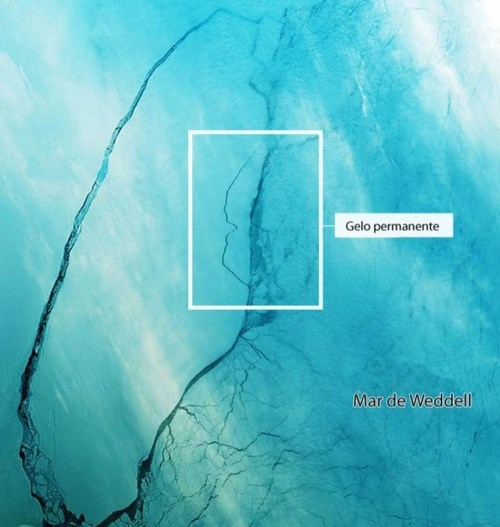 Imagem de satélite mostra movimento de iceberg gigante que se desprendeu da Antártica