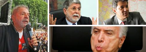 LULA, AMORIM E HADDAD DENUNCIAM CRIME DE LESA-PÁTRIA DE TEMER