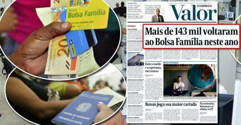 ERA TEMER: 143 MIL VOLTAM AO BOLSA FAMÍLIA E 525 MIL ESTÃO NA FILA
