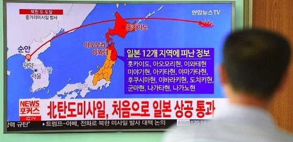 Míssil da Coreia do Norte passou sobre o Japão, Trump afirma todas as opções sobre a mesa'