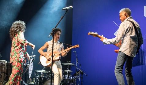 Gal, Gil e Nando Reis cantam 'Pérola Negra' em homenagem a Luiz Melodia em SP