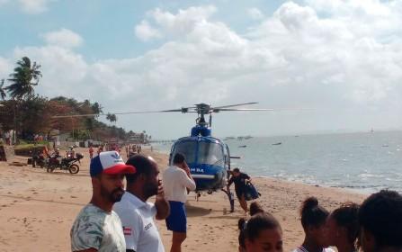 Embarcação da travessia Salvador-Mar Grande vira na Baía de Todos-os-Santos