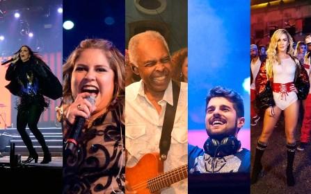 Réveillon de Salvador terá atraçoes como: Gil, Ivete, Claudia, Safadão, Marília e Luan Santana entre outros