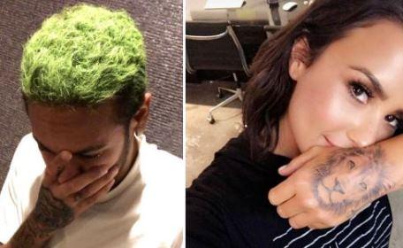 Neymar faz tatuagem semelhante a de Demi Lovato