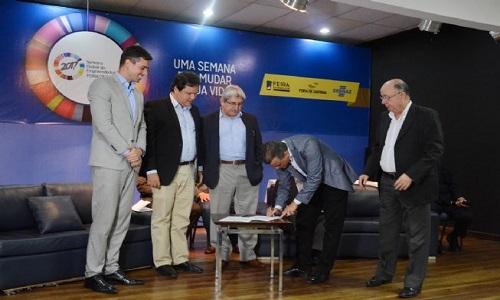 Prefeitura celebra convênio com SUDENE E PNUD, na abertura da I Semana Global do Empreendedorismo