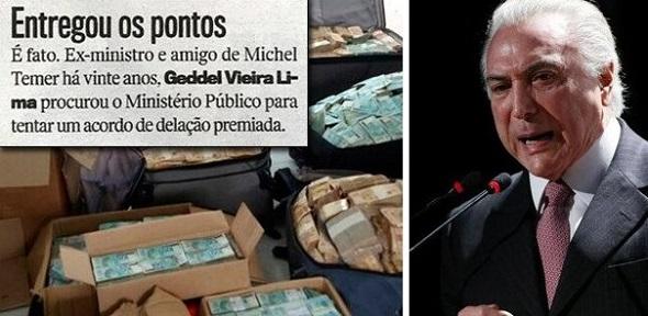 GEDDEL ENTREGA OS PONTOS E DECIDE DELATAR. ACIMA DELE, SÓ HAVIA TEMER