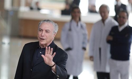 Temer fará exames no Sírio Libanês, para avaliar necessidade de cateterismo