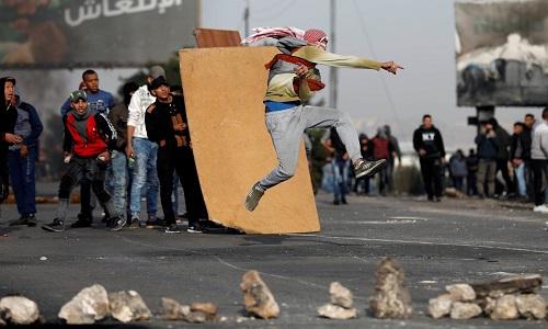 Palestinos protestam contra Trump