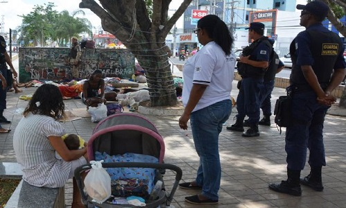 Crianças recolhidas da rua são encaminhados para o Abrigo, por determinação judicial