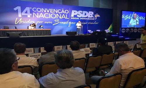 PSDB inicia convenção para aclamar Alckmin presidente do partido