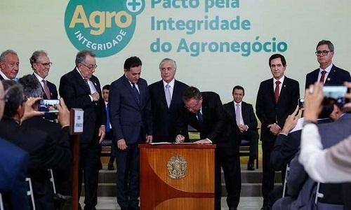 Palácio do Planalto lança Selo Agro Mais Integridade