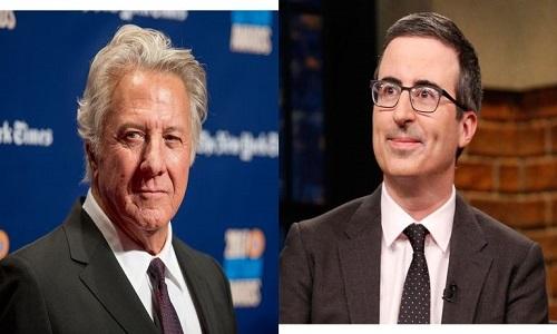 Dustin Hoffman é pressionado John Oliver por acusação de assédio
