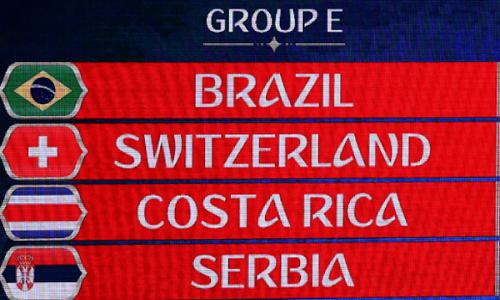 Brasil fica no Grupo E da Copa do Mundo
