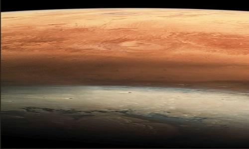Agência Espacial Europeia faz foto de Marte de cabeça para baixo