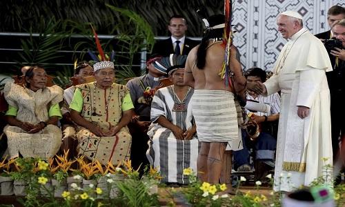 """Papa Francisco:os povos indígenas originários """"nunca estiveram tão ameaçados quanto agora"""""""