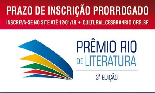 Prêmio Rio de Literatura prorroga inscrições até 12 de janeiro