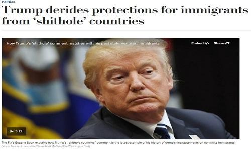Trump chama  Haiti, África e outros países da América Central de 'buracos de merda'
