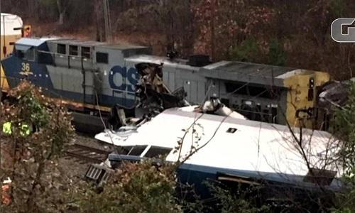Colisão entre trens nos EUA deixa 2 mortos e 70 feridos