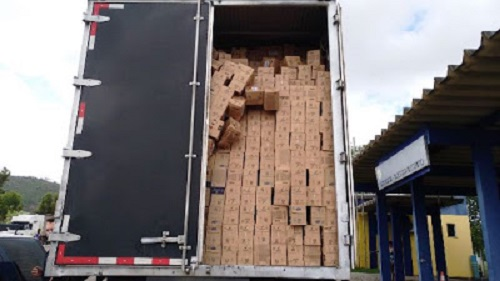 PRF e Decarga apreendem carga roubada de quase R$ 500 mil