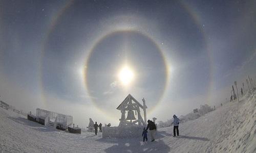 Fenômeno com '3 sóis' aparece em cidade russa