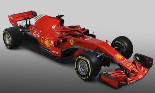 Ferrari divulgou carro para temporada 2018
