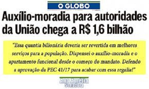 AUXÍLIO-MORADIA DE MORO, BRETAS & CIA É TRAMOIA